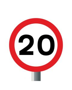 Reflective MPH Speed Limit Sign - Post Mounted - Diagram 670