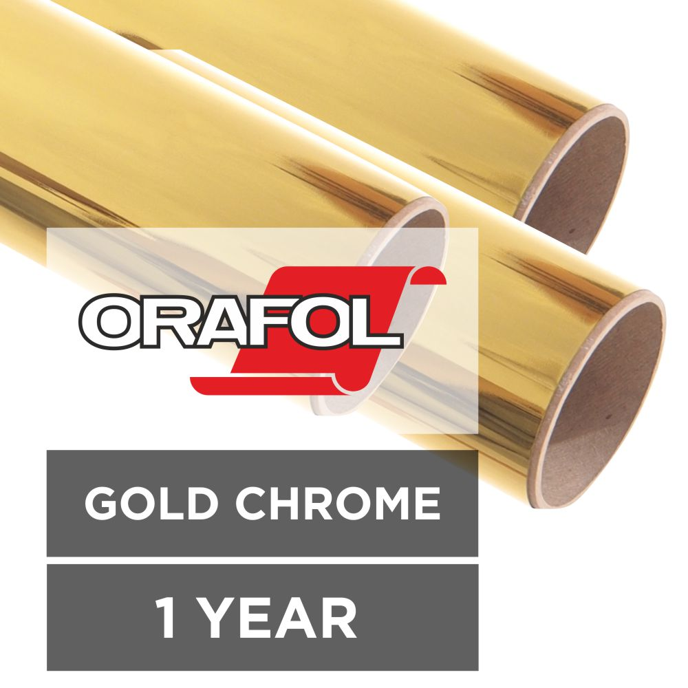 Oracal 351 Gold Chrome Metallised Vinyl Sign Trade Supplies
